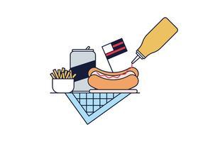 Hot Dog vettoriale gratuito