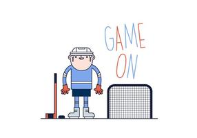 vettore del giocatore di hockey