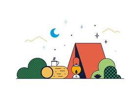 Camp Free Vector