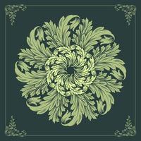mandala floreale verde
