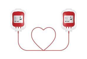 concetto di donazione di sangue vettore
