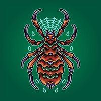 ragno mutante marrone vettore