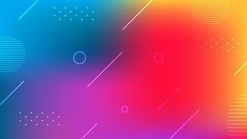 sfondo creativo gradiente di colore alla moda vettore