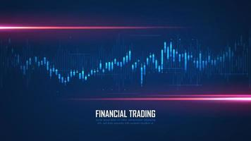 concetto grafico del grafico del mercato azionario