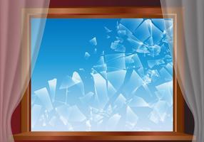 Vettore rotto di vetro di finestra