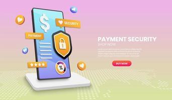 concetto di sicurezza dei pagamenti