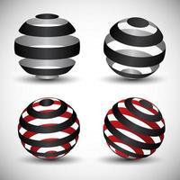 set di globo circolare vettore