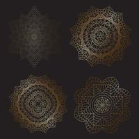 disegni decorativi mandala vettore