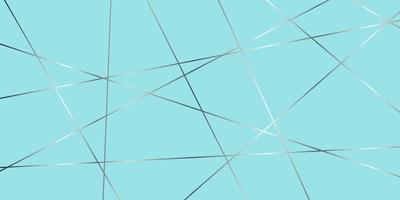linee d'argento incrociate sfumate sul blu vettore