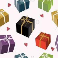 modello senza cuciture di scatole regalo