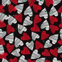 modello senza cuciture mini cuore rosso e bianco vettore