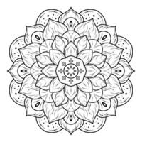 mandala floreale fiore a strati
