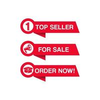 set di banner rosso shopping e vendita