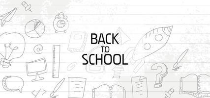 ritorno al design della scuola con i bambini scarabocchi su carta