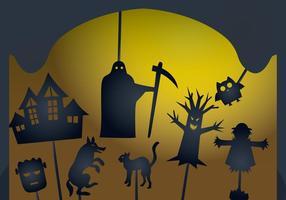 Burattino di ombre di Halloween incandescente vettore