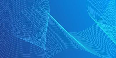 gradiente blu con design dinamico della linea mista