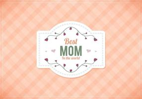 Mamme vettoriali gratis Peach Gingham Background
