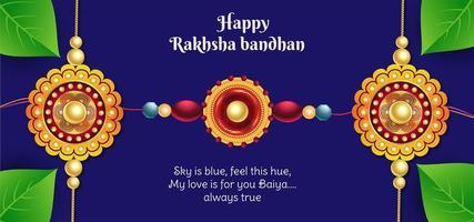 felice raksha bandhan celebrazione sullo sfondo vettore