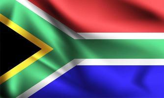 bandiera 3d sudafricana vettore