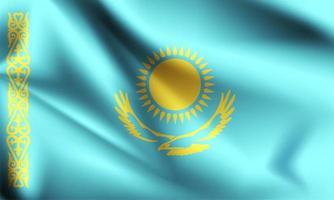 Kazakistan 3d bandiera vettore