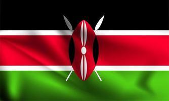 Kenia bandiera 3d vettore