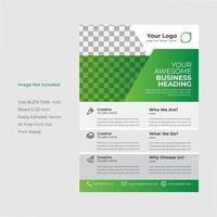 brochure di marketing creativo verde e grigio