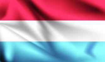 Lussemburgo bandiera 3d