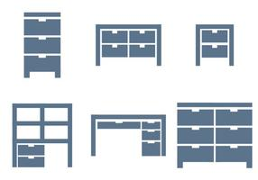 file cabinet vettoriale