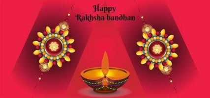 felice raksha bandhan celebrazioni sullo sfondo vettore