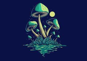 fungo dal fiume vettore
