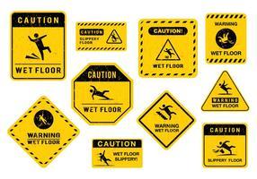 Vettore di segno di pavimento bagnato gratuito