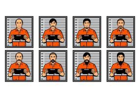 Illustrazione vettoriale di Mugshot gratis