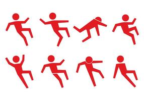 Icona della gente sdrucciolevole