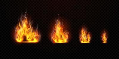 il set di fiamme virtuali può essere separato da uno sfondo trasparente vettore