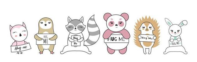simpatici animaletti pronti per un abbraccio