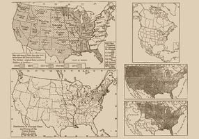 Mappe antiche vettore