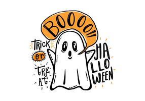 Vettore disegnato a mano del fantasma di Halloween