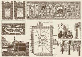 Elementi islamici vettore