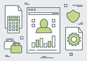 Priorità bassa di vettore di elementi di sito Web lineare verde