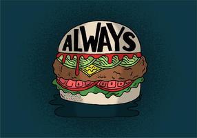 Sempre vettore cheeseburger