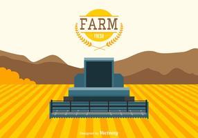Agricoltura gratuita paesaggio vettoriale
