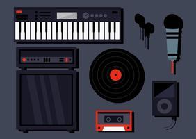 Vettori di strumenti musicali DJ