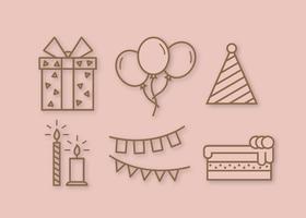 Vettore di festa di compleanno gratis