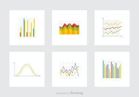 Icone vettoriali di grafici