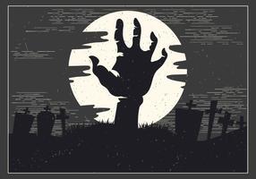 Vettore della mano di zombie di Halloween