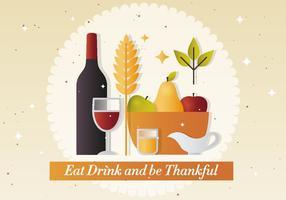 Illustrazione vettoriale di ringraziamento gratis