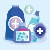 disegno di prescrizione medica vettore