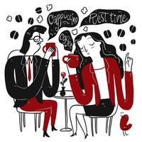 coppia di bere il caffè durante una pausa