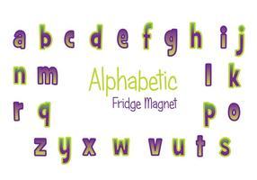 Insieme di vettore del magnete del frigorifero viola e verde