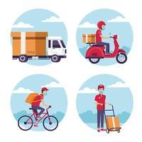 set di servizi di consegna